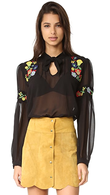 feece6be4f24ca Anna Sui Garden Embroidered Blouse