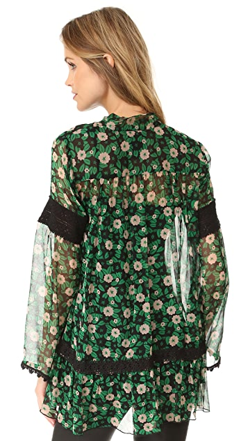 Anna Sui Starry Flower Print Blouse