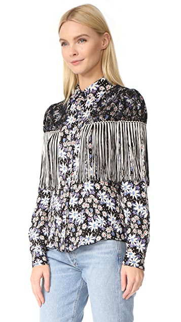 Anna Sui Oops A Daisy Fringe Top