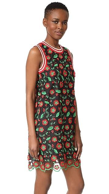 Anna Sui Poppy Trellis Sport Shift Dress