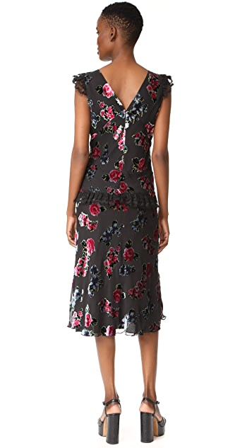 Anna Sui Rose Maxi Dress