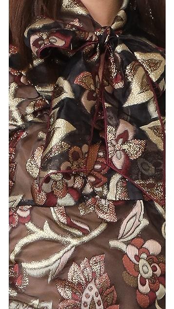 Anna Sui Tie Neck Blouse