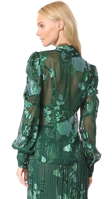 Anna Sui Iridescent Moonlight Garden Top