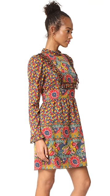 Anna Sui Lion Border Dress