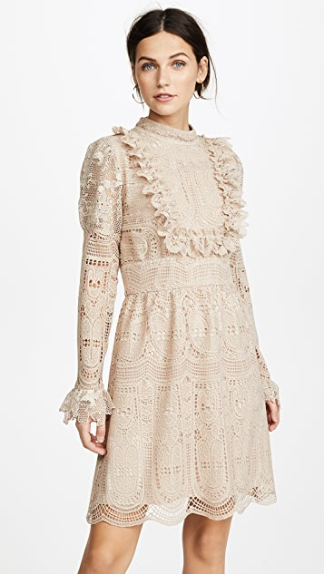 Anna Sui Cupid's Clouds & Scallop Lace Dress