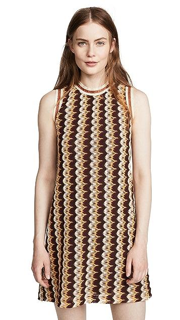 Anna Sui Zigzag Mini Dress