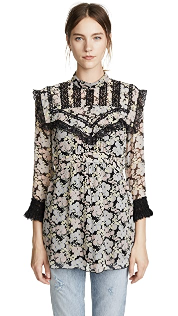 Anna Sui Bloom Silk Tunic