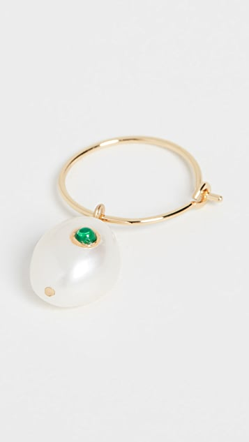Anni Lu 珍珠圈式耳环