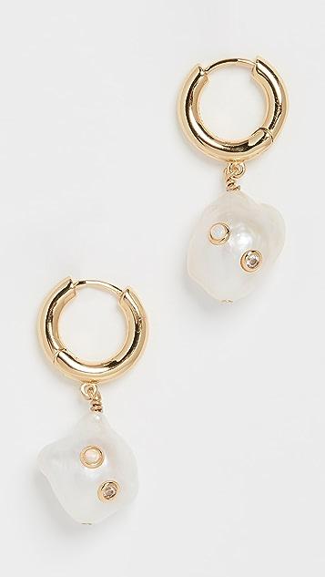 Anni Lu Gertrude 珍珠圈式耳环