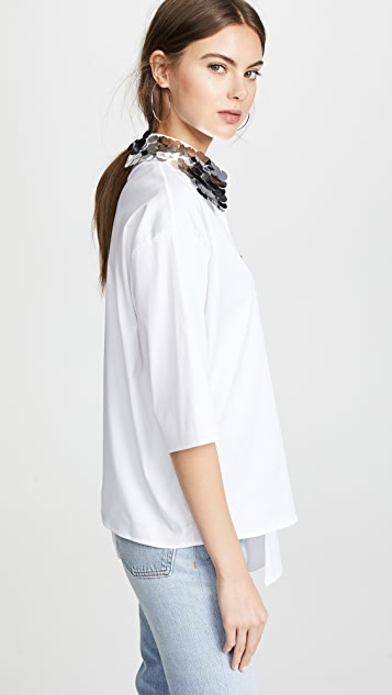 Anouki Asymmetric Shirt with Cutout Shoulder