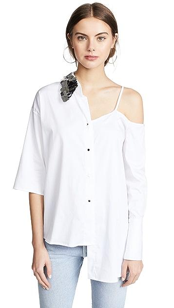Anouki Asymmetric Shirt with Cutout Shoulder