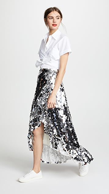 Anouki Asymmetric Ruffle Skirt