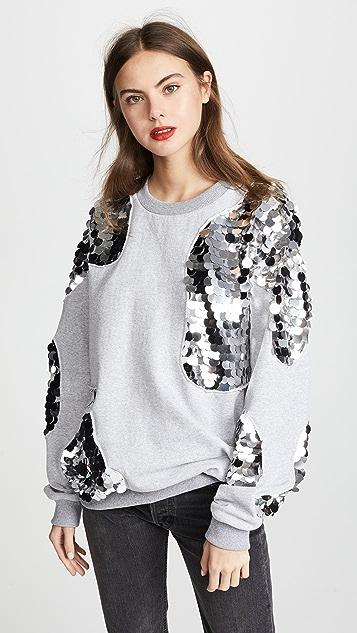 Anouki Grey Sweatshirt with Sparkly Inserts