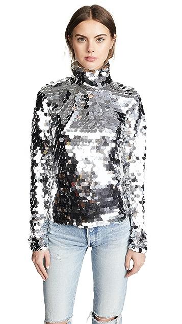 Anouki Silver Sequin Turtleneck