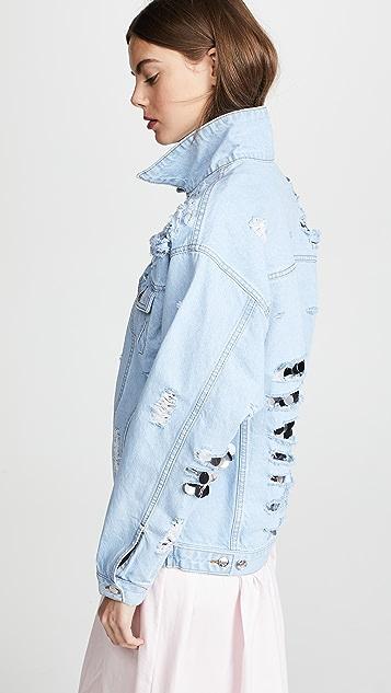 Anouki Denim Jacket with Sequin Inserts