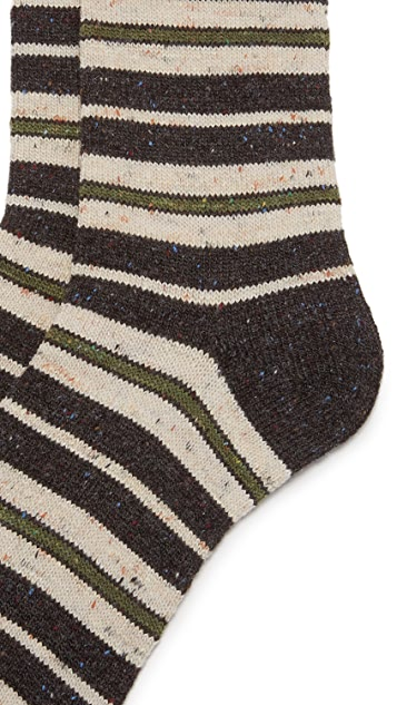 Anonymous Ism Blanket Border Crew Socks
