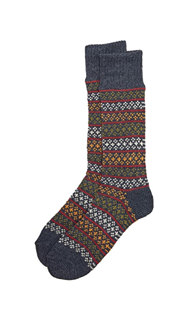 Anonymous Ism Flower Stripe Socks