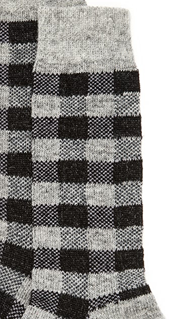Anonymous Ism Wool Check Socks