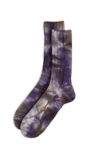 Anonymous Ism Uneven Dye Crew Socks