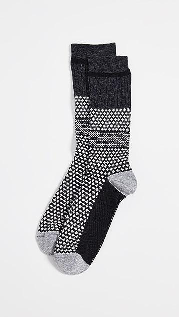Anonymous Ism Chesunut Jacquard Crew Socks