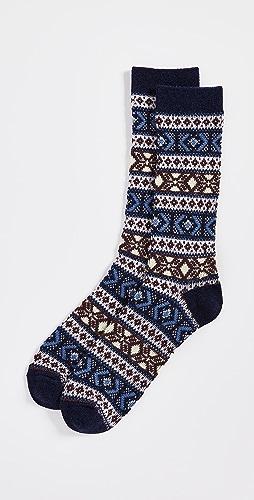 Anonymous Ism - Wool Jacquard Crew Socks