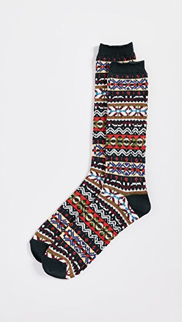 Anonymous Ism Fairisle Crew Socks