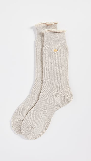 Anonymous Ism Go Hemp Embroidered Crew Socks