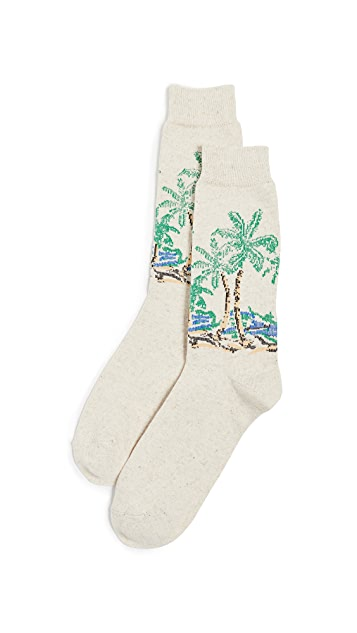 Anonymous Ism Palm Tree Crew Socks