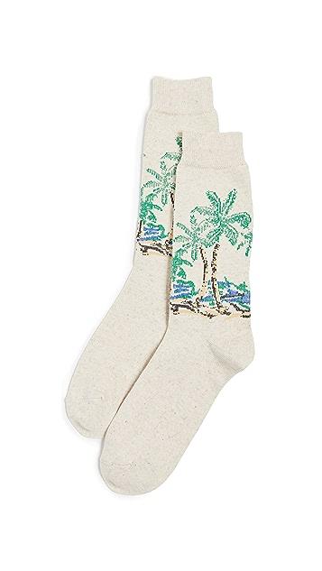 Anonymous Ism Palm Tree Crew Socks