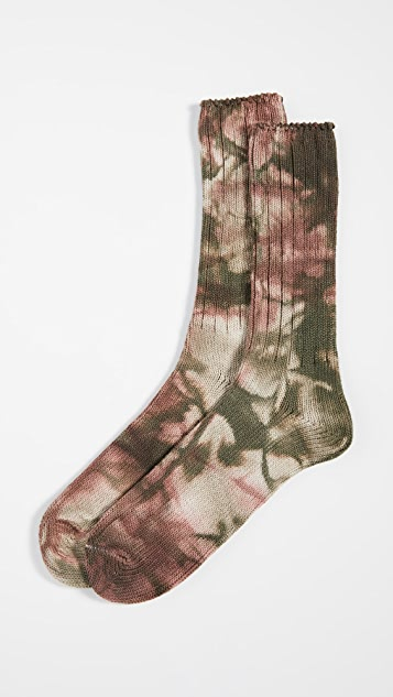 Anonymous Ism 2 Color Uneven Dye Crew Socks
