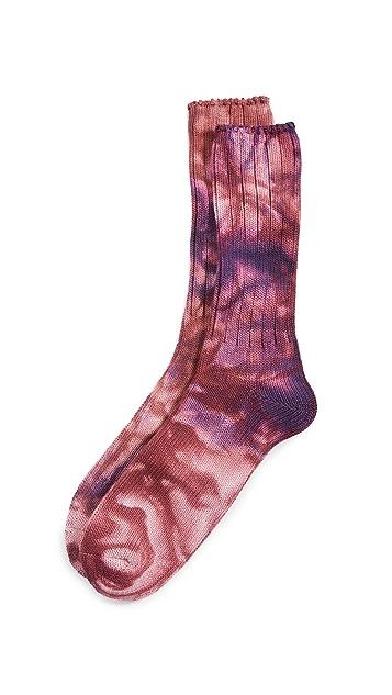 Anonymous Ism 2 Color Uneven Dye Crew Socks