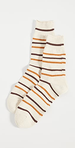 Anonymous Ism - Re Cotton Stripe 3q Socks