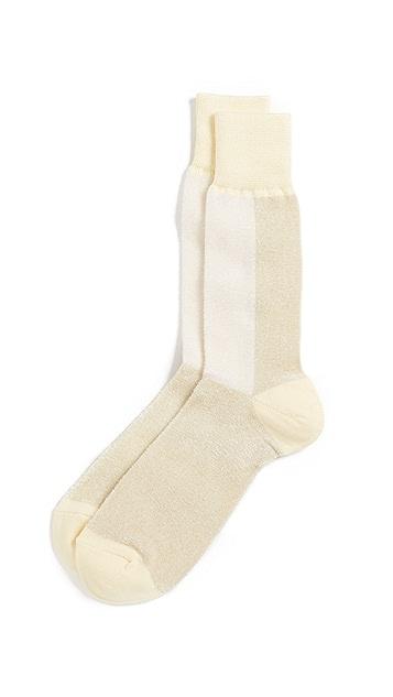 Anonymous Ism Velor Bi-Color Crew Socks