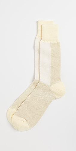 Anonymous Ism - Velor Bi-Color Crew Socks