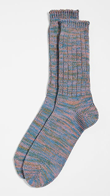 Anonymous Ism 5 Color Mix Crew Socks