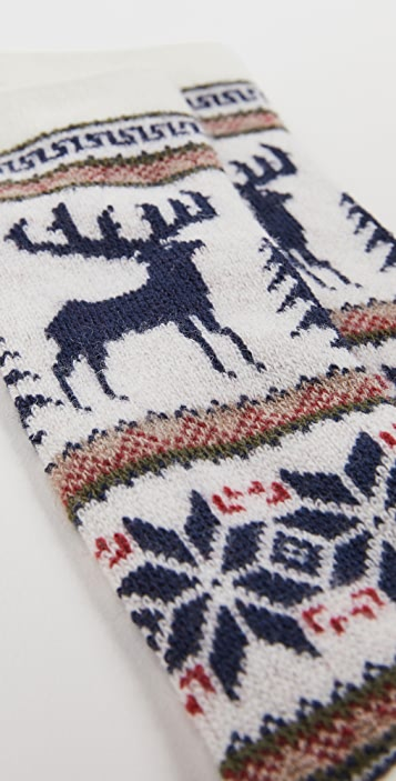 Anonymous Ism Wool Deer Snow Crew Socks