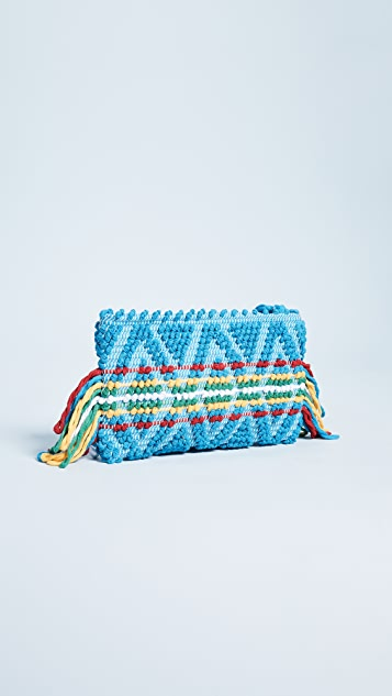 Antonello Piattina Rombi Multi Fringe Clutch