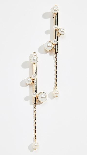 Anton Heunis Bubble Stick Imitation Pearl Earrings
