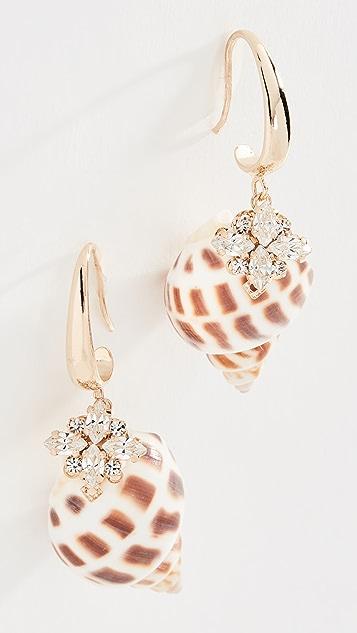 Anton Heunis 贝壳水晶耳环