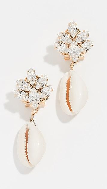 Anton Heunis Omega Clasp Cluster Shell Earrings