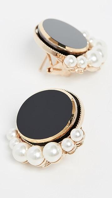 Anton Heunis Oval Imitation Pearl Earrings