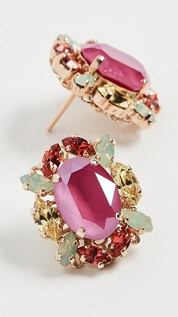 Anton Heunis 宝石簇状耳环