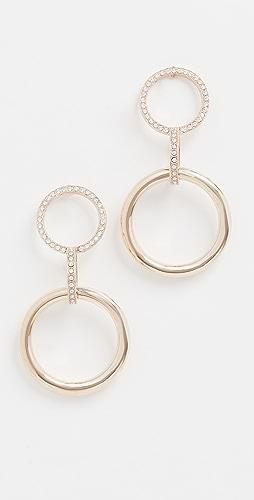 Anton Heunis - 双环圈和链带吊坠耳环