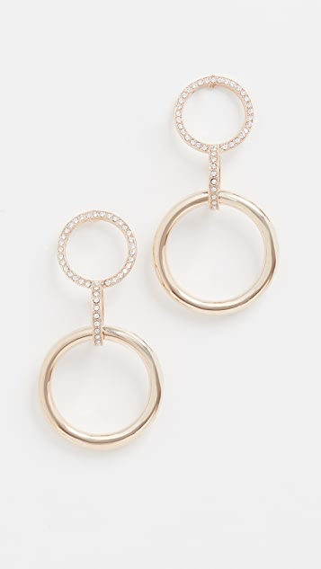 Anton Heunis Double Circle with Link Pendant Earrings