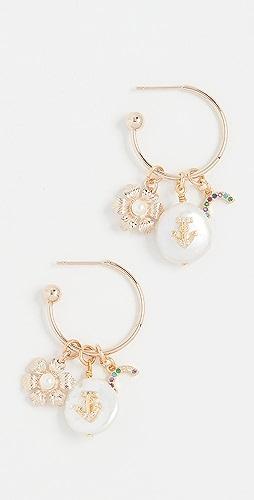 Anton Heunis - 锚形、花朵和蝴蝶结圈式耳环