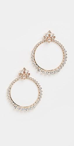 Anton Heunis - Cluster with Crystals Hoop Earrings