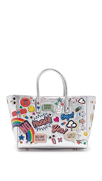 Shopbop Wink Ebury Tote Stickers Small Allover Anya Hindmarch 50I5qH