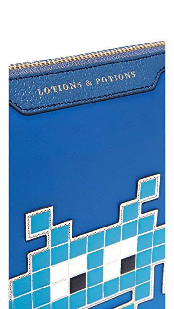 Anya Hindmarch Space Invader Lotions & Potions Pouch