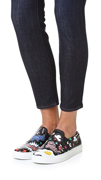 Anya Hindmarch Skater Sneakers with Allover Stickers