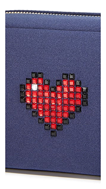 Anya Hindmarch Heart Make Up Pouch